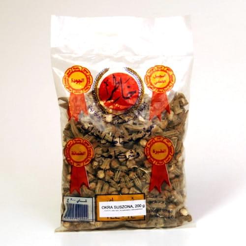 Okra zielona suszona, bamya, bamia, 200 g